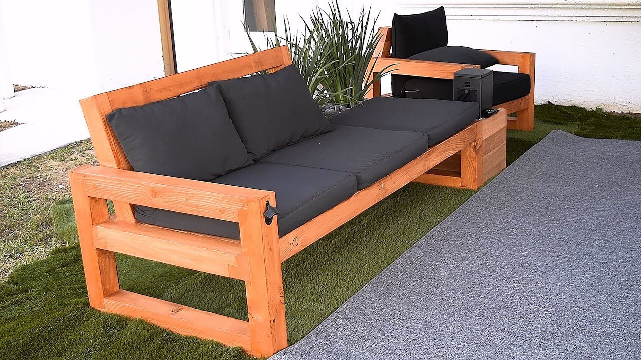 DIY Outdoor Sectional Plans  DIY Modern Outdoor Sofa