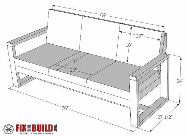 DIY Outdoor Sectional Plans  How to Build a DIY Modern Outdoor Sofa