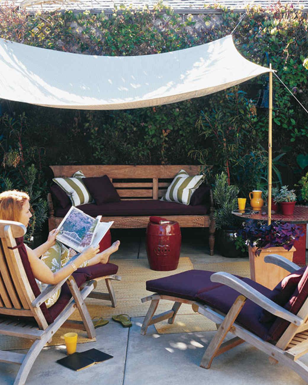 DIY Outdoor Shade  A Slice of Shade Creating Canopies