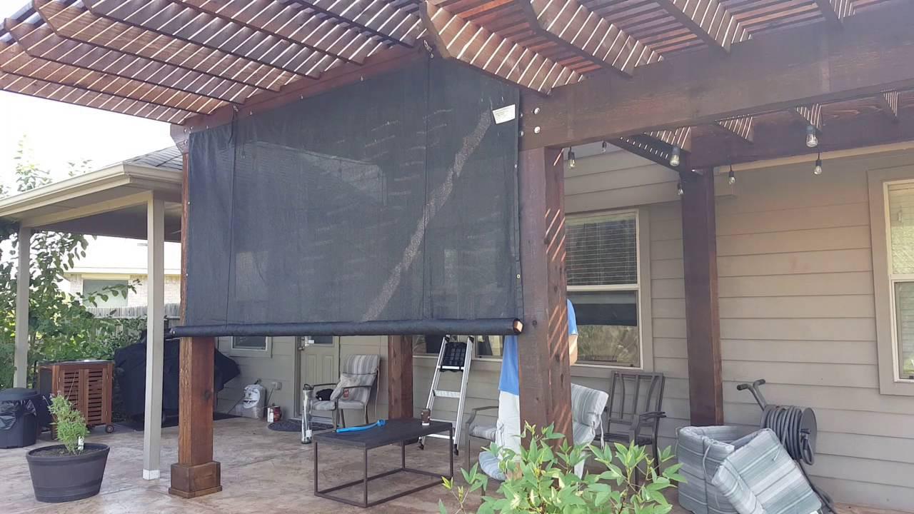 DIY Outdoor Shade  DIY outdoor rolling shade