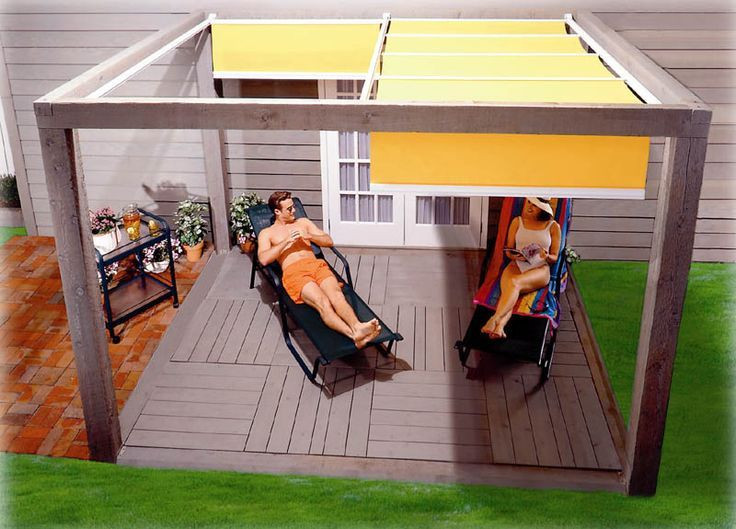 DIY Outdoor Shade  31 best Slide wire canopy DIY images on Pinterest