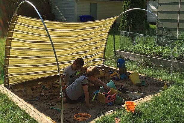 DIY Outdoor Shade  DIY Outdoor Canopy My Happy Crazy Life