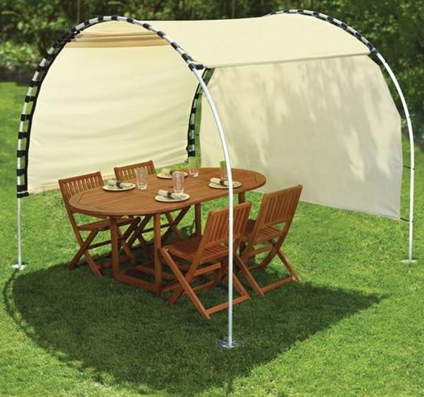 DIY Outdoor Shade  How to Make Adjustable DIY Outdoor Canopy