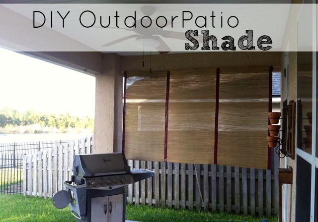 DIY Outdoor Shade  DIY Outdoor Patio Shade – Saving The Family Money