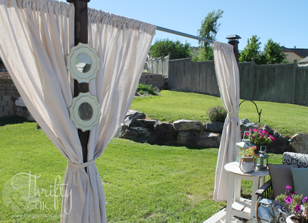 DIY Outdoor Shade  Create Outdoor Shade with Curtains Easy DIY Projects 12