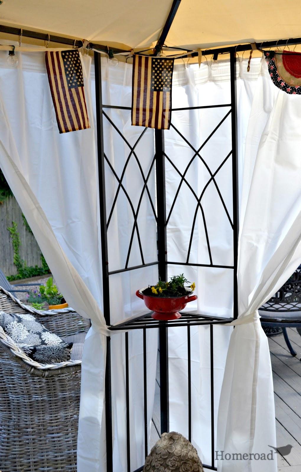 DIY Outdoor Shade  DIY Outdoor Canopy Curtains