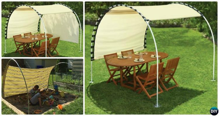 DIY Outdoor Shade  DIY Outdoor PVC Canopy Projects [Picture Instructions]