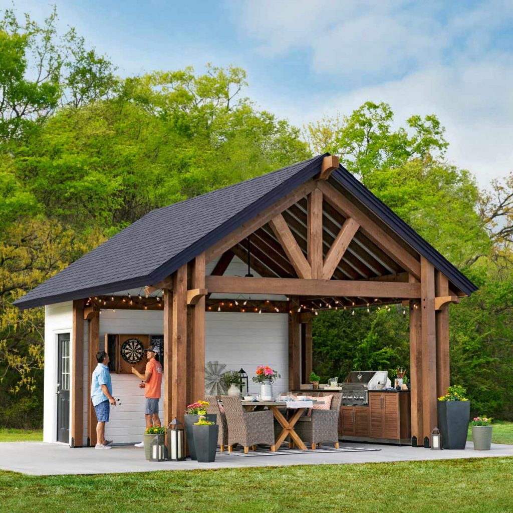 DIY Pavilion Plans  Sheds