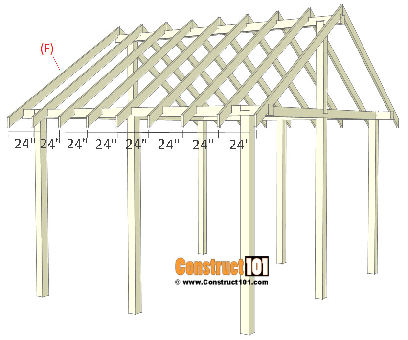 DIY Pavilion Plans  Pavilion Plans 14x16 DIY Free Outdoor Projects Construct101