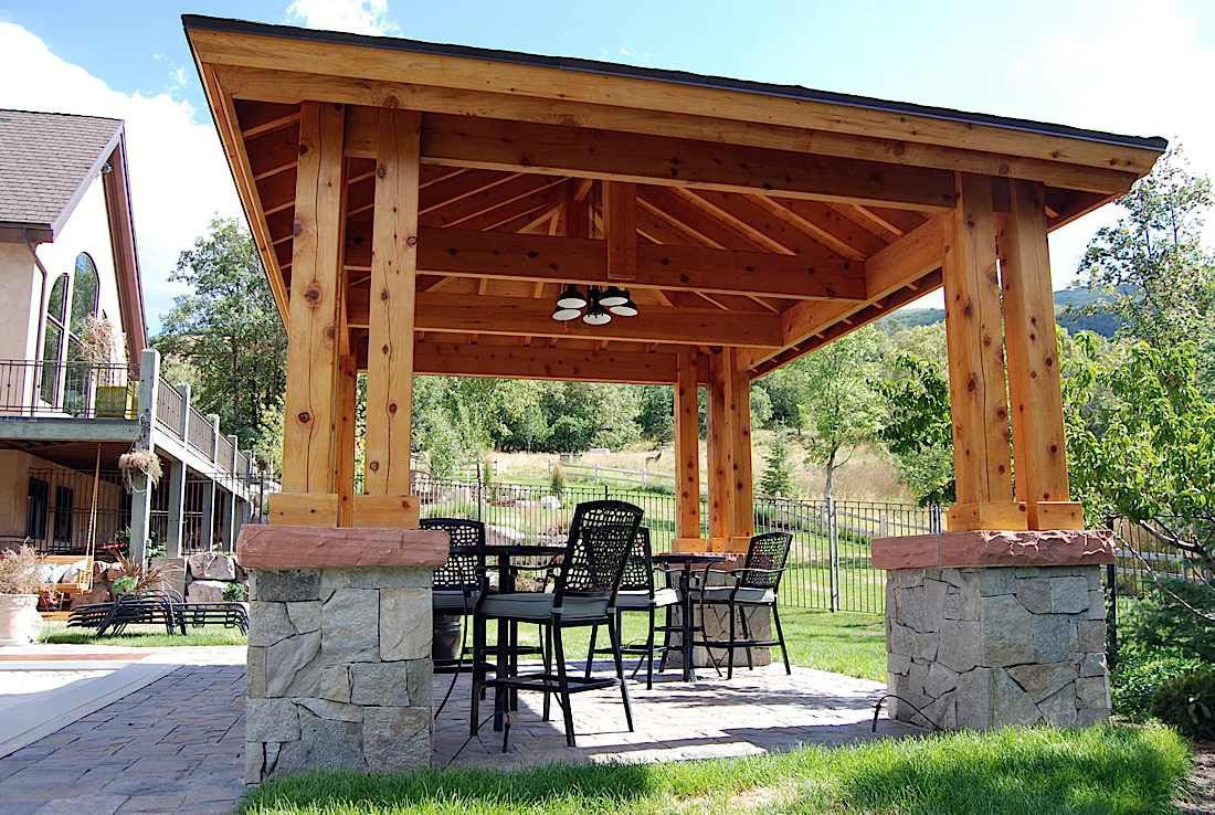 DIY Pavilion Plans  Plan For An Easy 16 x 20 DIY Solid Wood Pergola or
