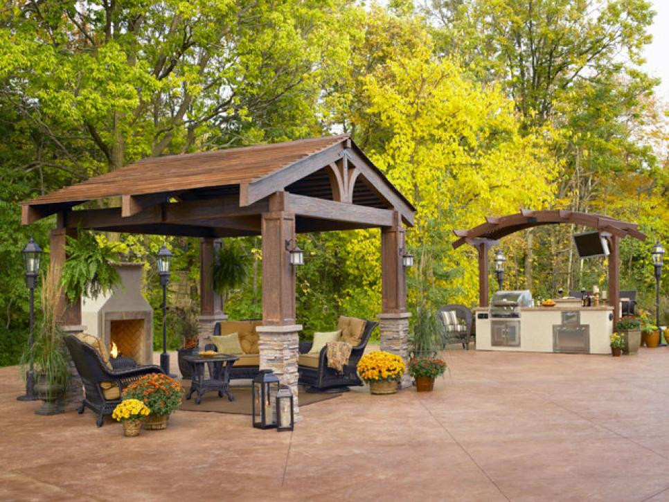 DIY Pavilion Plans  Gazebo Plans With Fireplace – HomesFeed