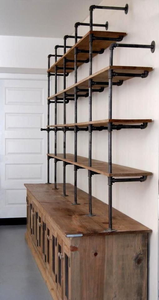 DIY Pipe And Wood Shelves  Pin on Shelving Ideas