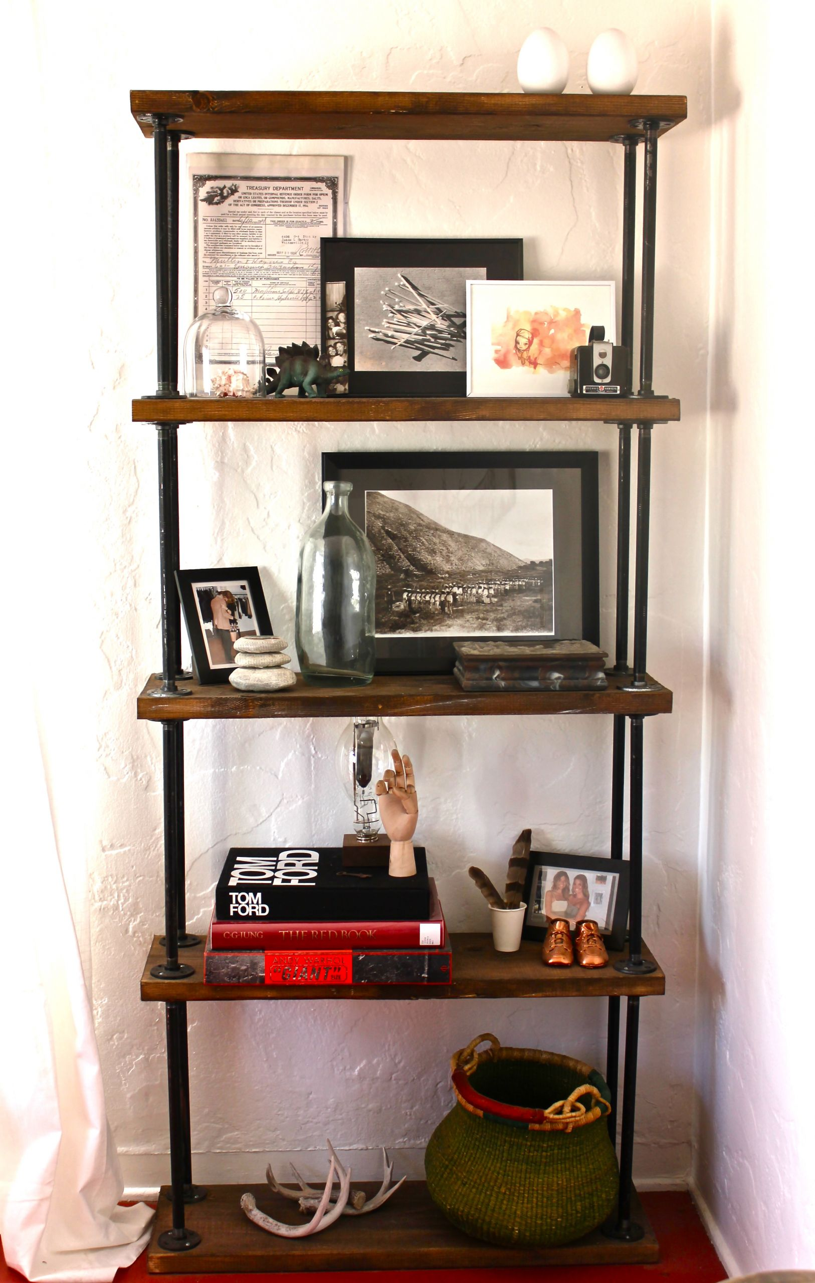 DIY Pipe And Wood Shelves  how to pipe shelf