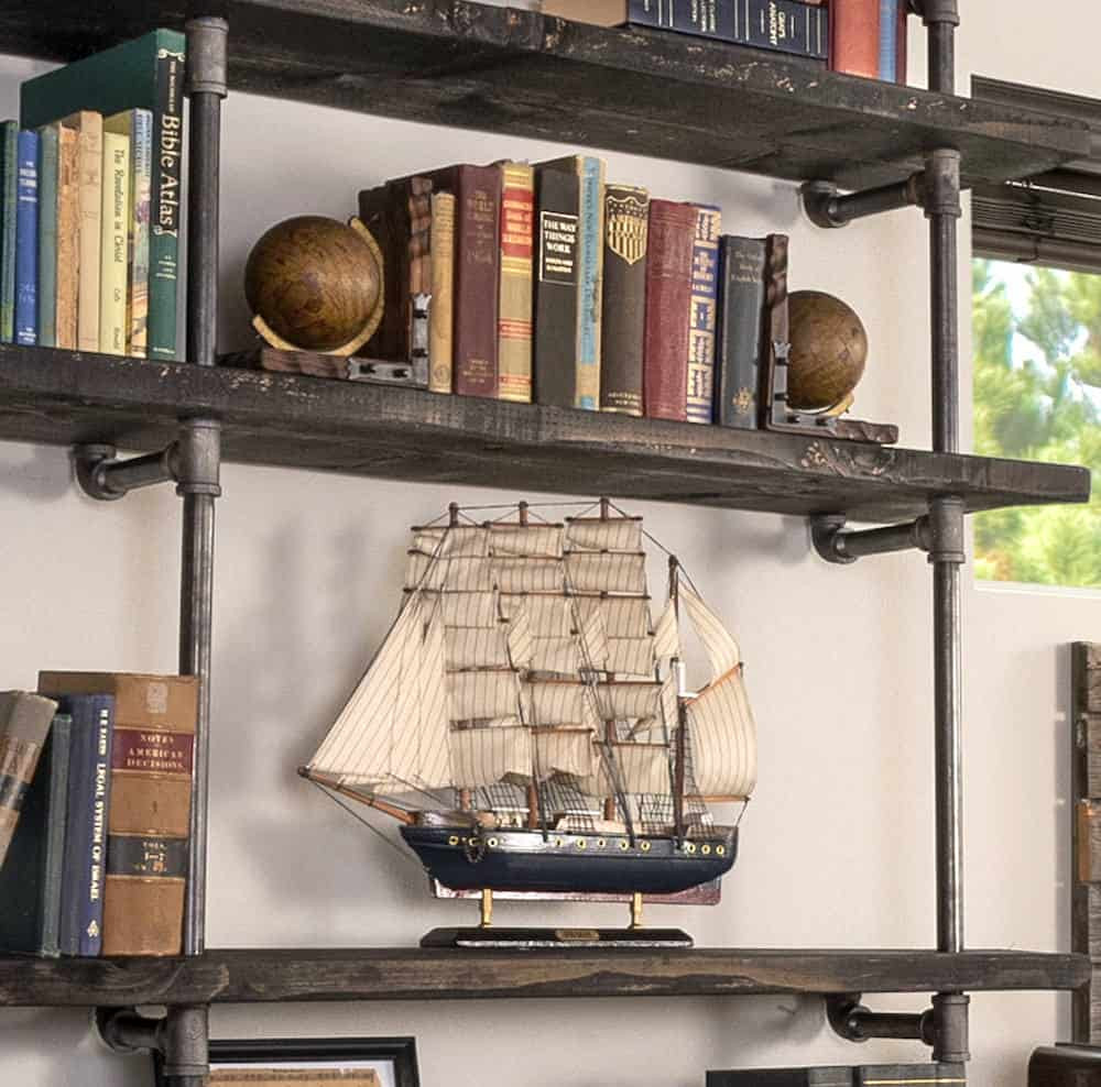 DIY Pipe And Wood Shelves  DIY Industrial Pipe Shelving a Reasonable Bud DIY
