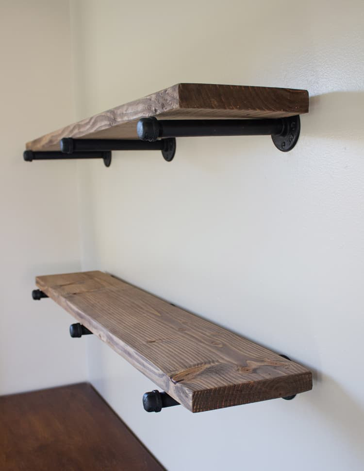 DIY Pipe And Wood Shelves  DIY Pipe Shelving