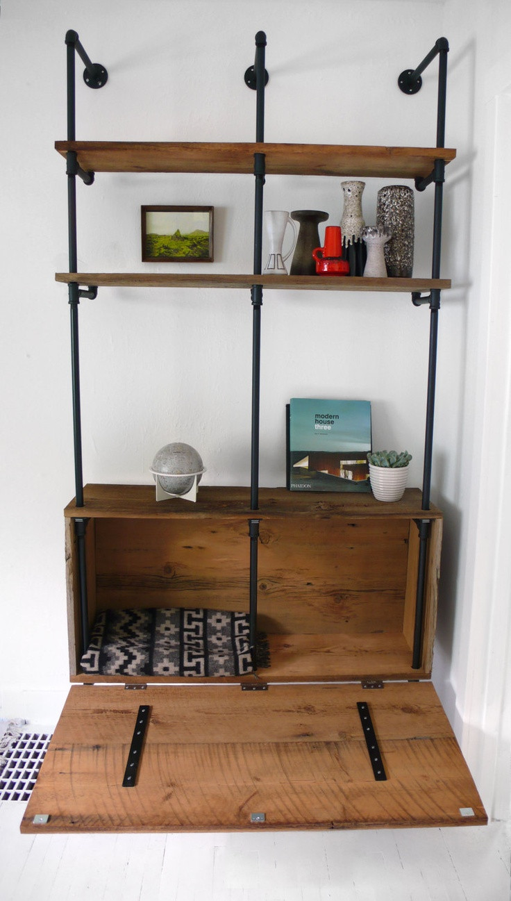 DIY Pipe And Wood Shelves  17 images about DIY Plumbing Pipe & Scaffolding Tubes in