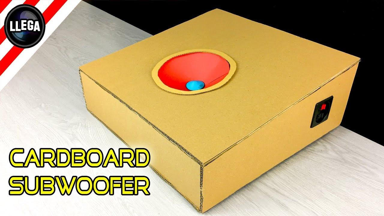 DIY Sub Boxes  DIY Building Car Subwoofer Box From Cardboard