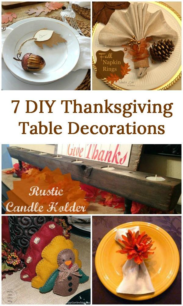 DIY Thanksgiving Decor Pinterest  7 DIY Thanksgiving Table Decorations