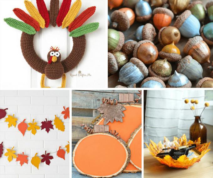 DIY Thanksgiving Decor Pinterest  THANKSGIVING DECORATIONS 40 DIY Thanksgiving decor ideas