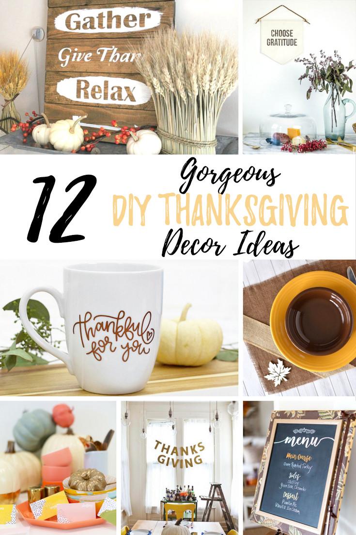 DIY Thanksgiving Decor Pinterest  12 Gorgeous DIY Thanksgiving Decor Ideas
