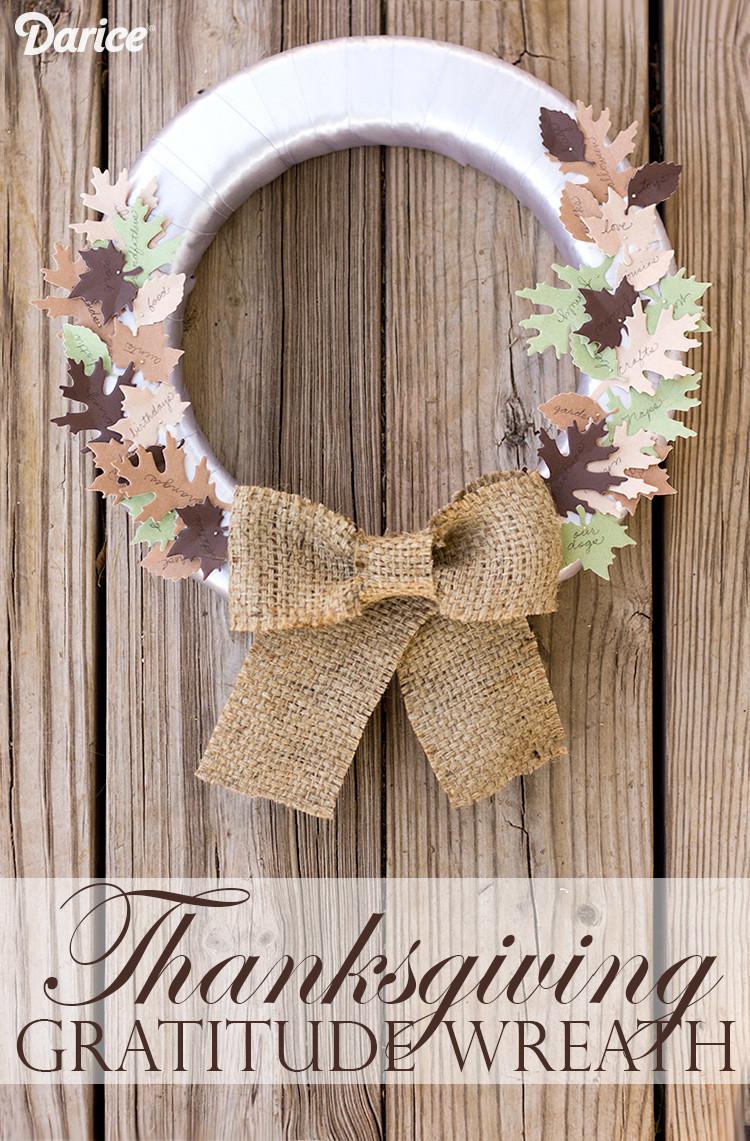 DIY Thanksgiving Decor Pinterest  DIY Thanksgiving Decor Gratitude Wreath Darice