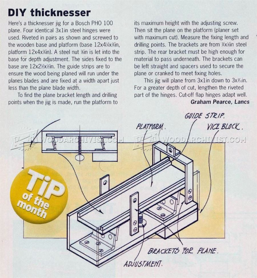 DIY Thickness Planer  DIY Thicknesser • WoodArchivist