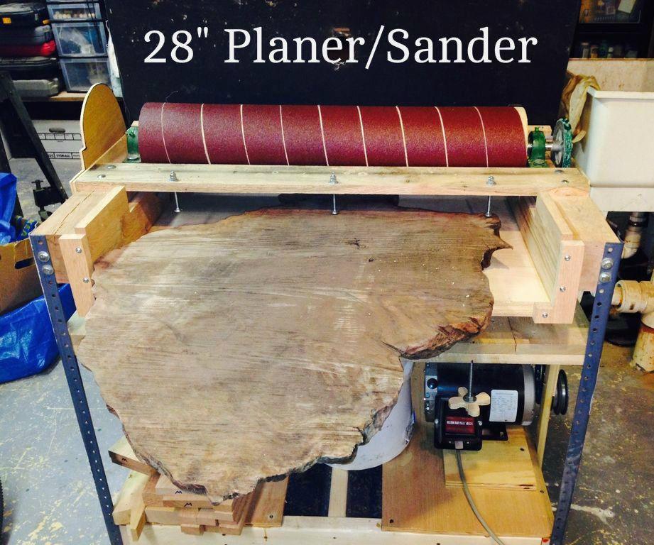 DIY Thickness Planer  Making a 28 Inch Wide Sander Planer
