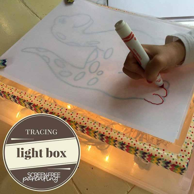 DIY Tracing Light Box  Screen Free Dinner Preparation What s Under My Kitchen