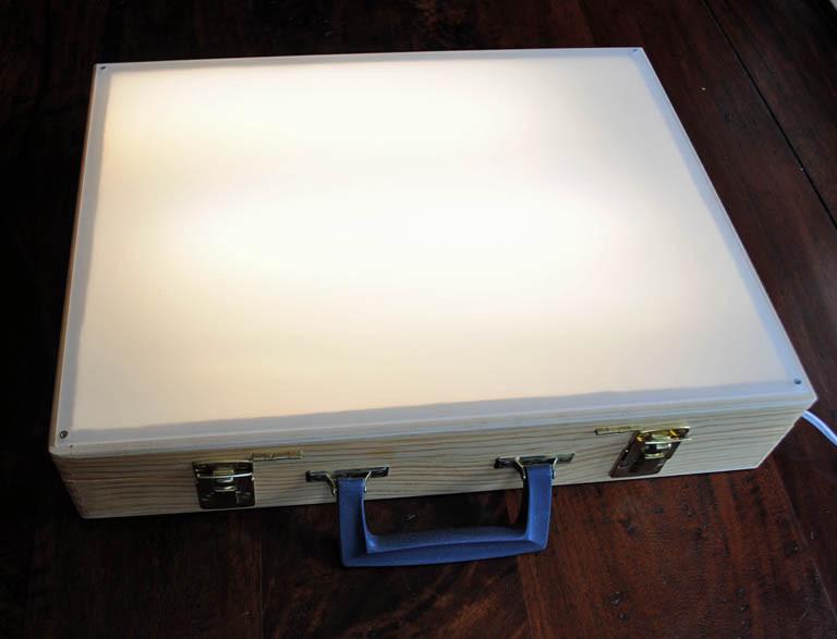 DIY Tracing Light Box  Tom Sarmo The Cranky Bird Studio Quick and Easy DIY