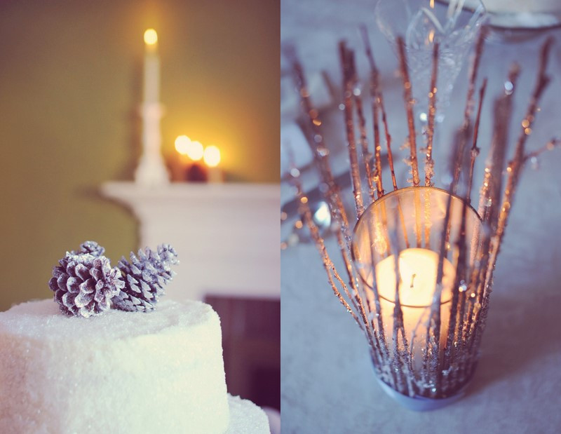 DIY Winter Decor  DIY Winter Wedding Details