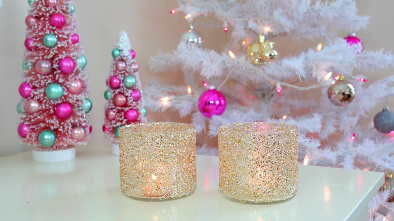 DIY Winter Decor  DIY Christmas Winter Room Decor Frosty Glitter Jars