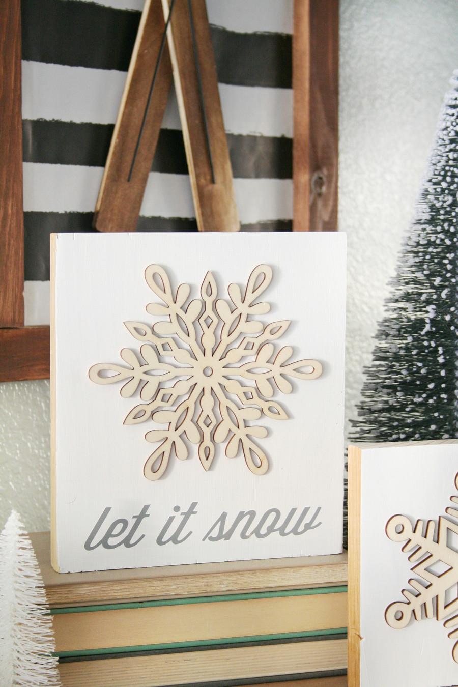 DIY Winter Decor  DIY Snowflake Winter Decor