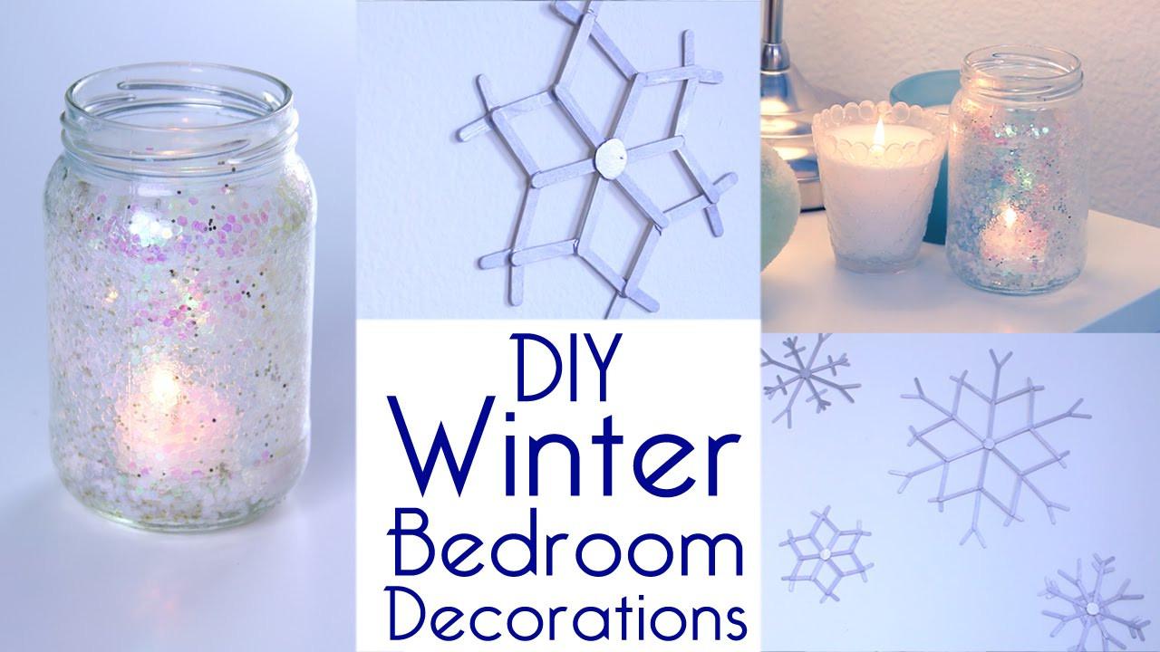 DIY Winter Decor  Room Decor DIY Winter Bedroom Decorations Tutorial