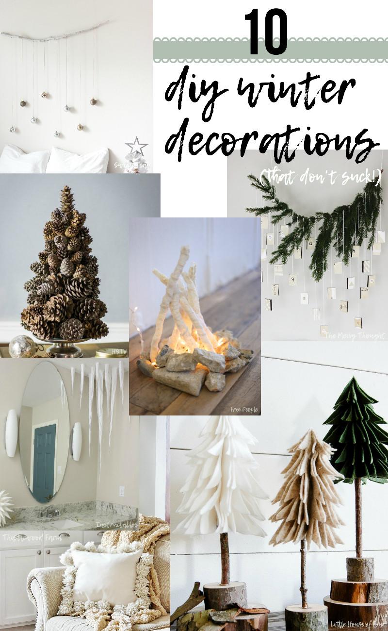 DIY Winter Decor  10 DIY Winter Decorations that don t suck