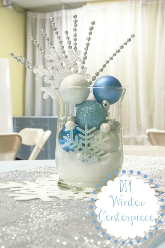 DIY Winter Decor  12 Days of Christmas Day 6 Winter Centerpiece