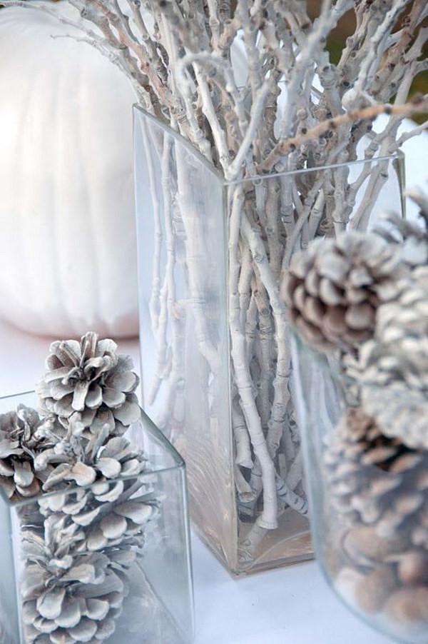 DIY Winter Decor  30 Beautiful Pinecone Decorating Ideas & Tutorials for Holiday