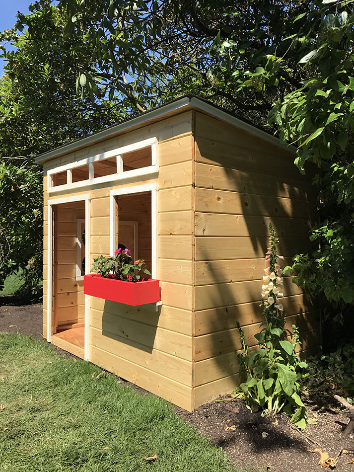 DIY Wood Playhouse  An Easy to Build DIY Outdoor Wood Playhouse – Inspired by