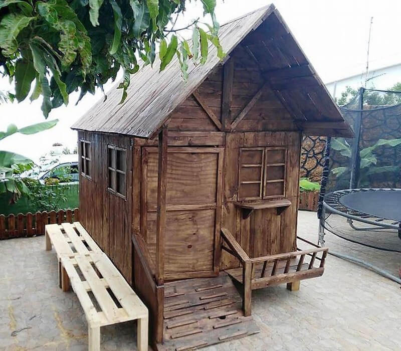 DIY Wood Playhouse  DIY Recycled Pallets Kids Toys And Playhouse