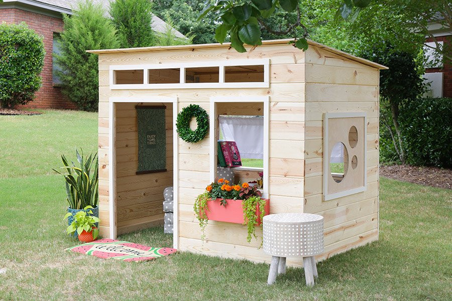 DIY Wood Playhouse  Wooden Playhouse Kits Style – Loccie Better Homes Gardens