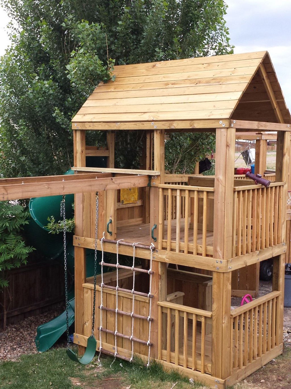 DIY Wood Playhouse  How To Build Yourself Wooden Playhouse Kits – Loccie