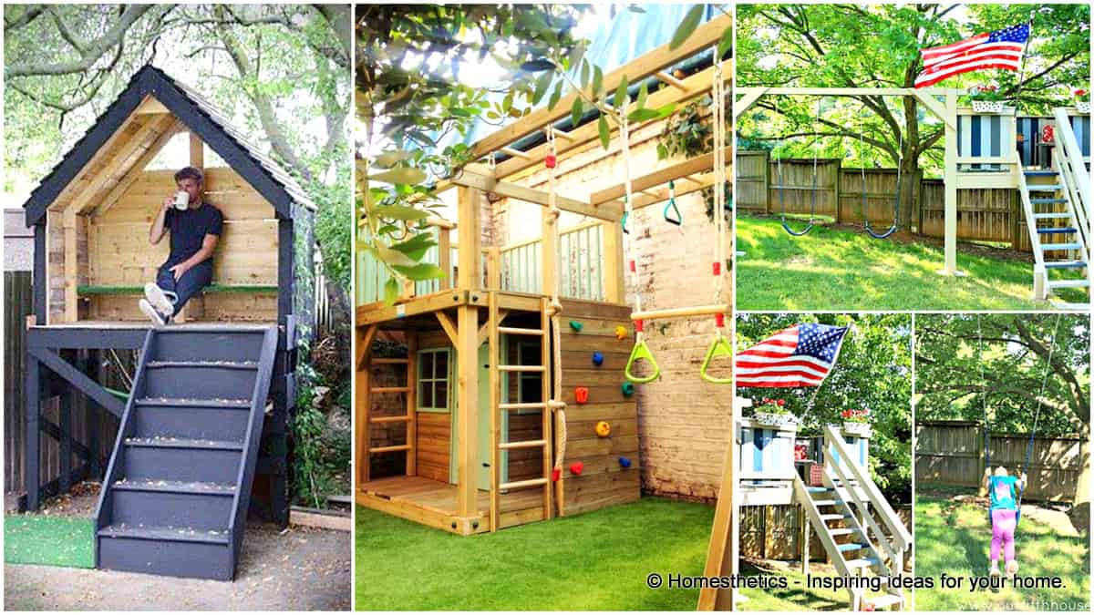 DIY Wood Playhouse  16 Creative Kids Wooden Playhouses Designs For Your Yard
