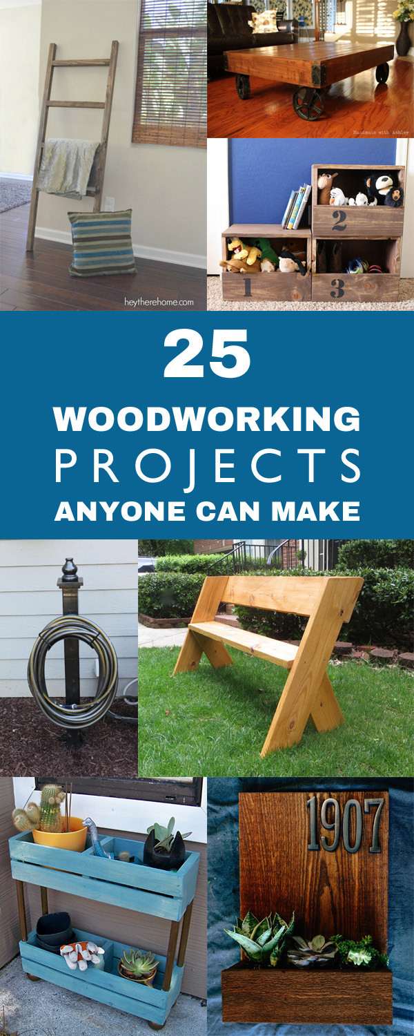 DIY Wood Projects  25 Easy DIY Woodworking Projects Anyone Can Make