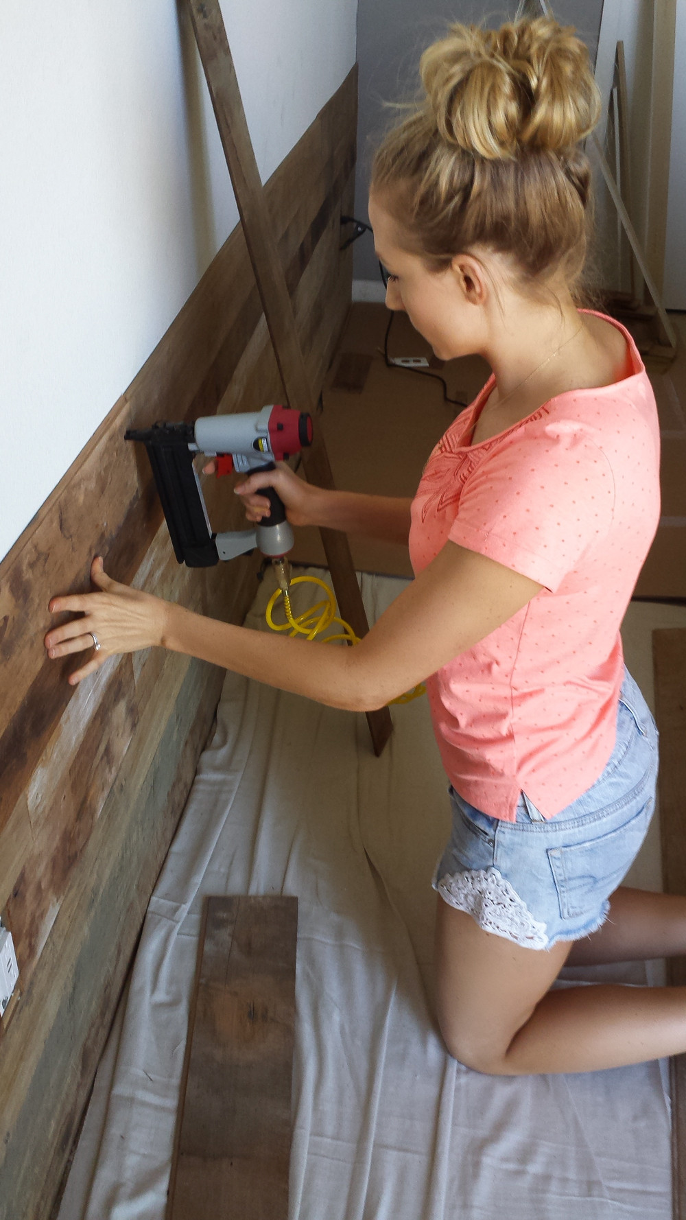 DIY Wood Projects  DIY Wood Accent Wall Design Life Diaries