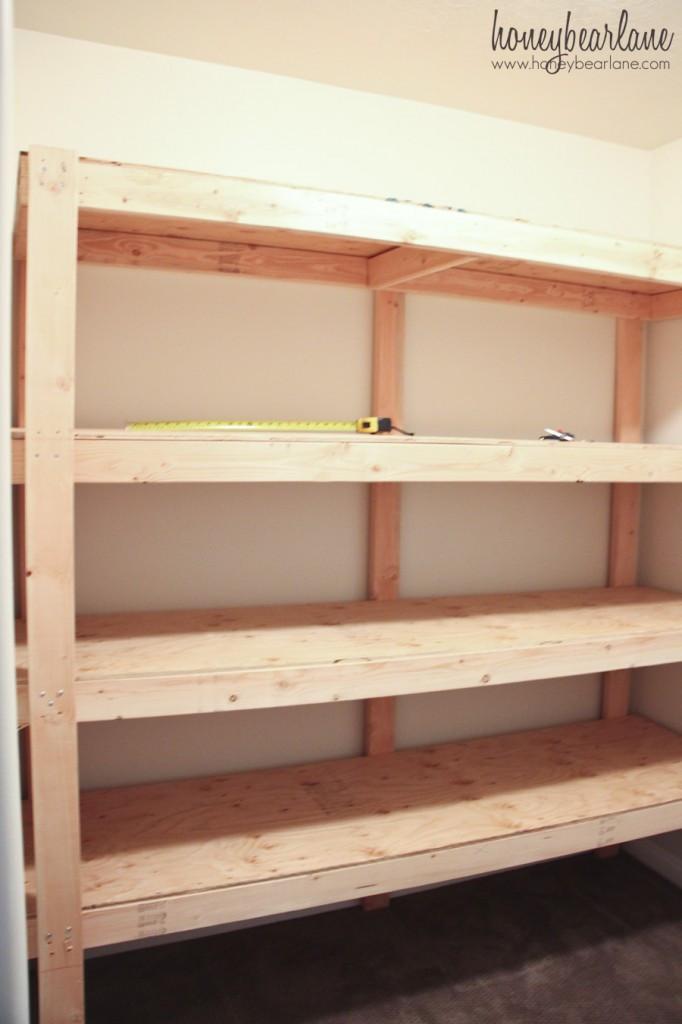 DIY Wood Shelf  DIY Storage Shelves Honeybear Lane