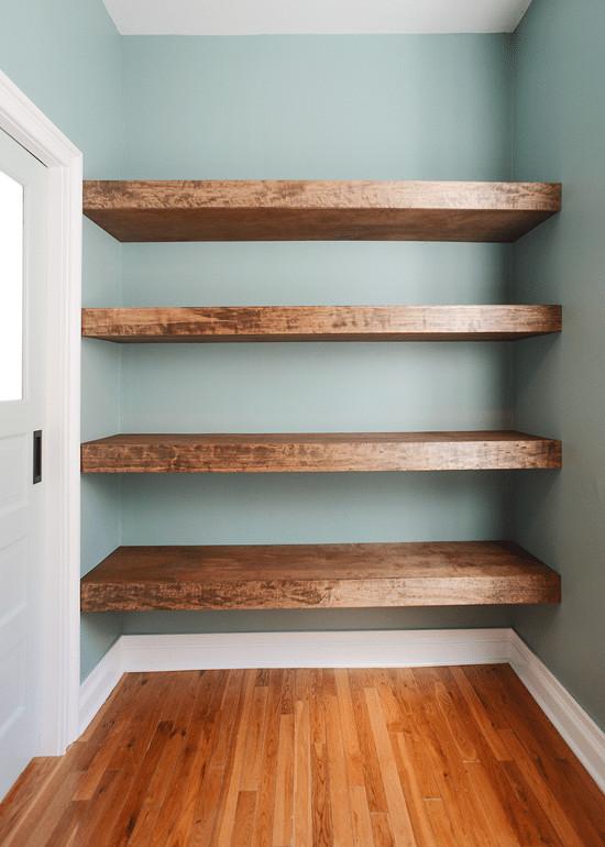 DIY Wood Shelf  DIY Floating Wood Shelves Yellow Brick Home