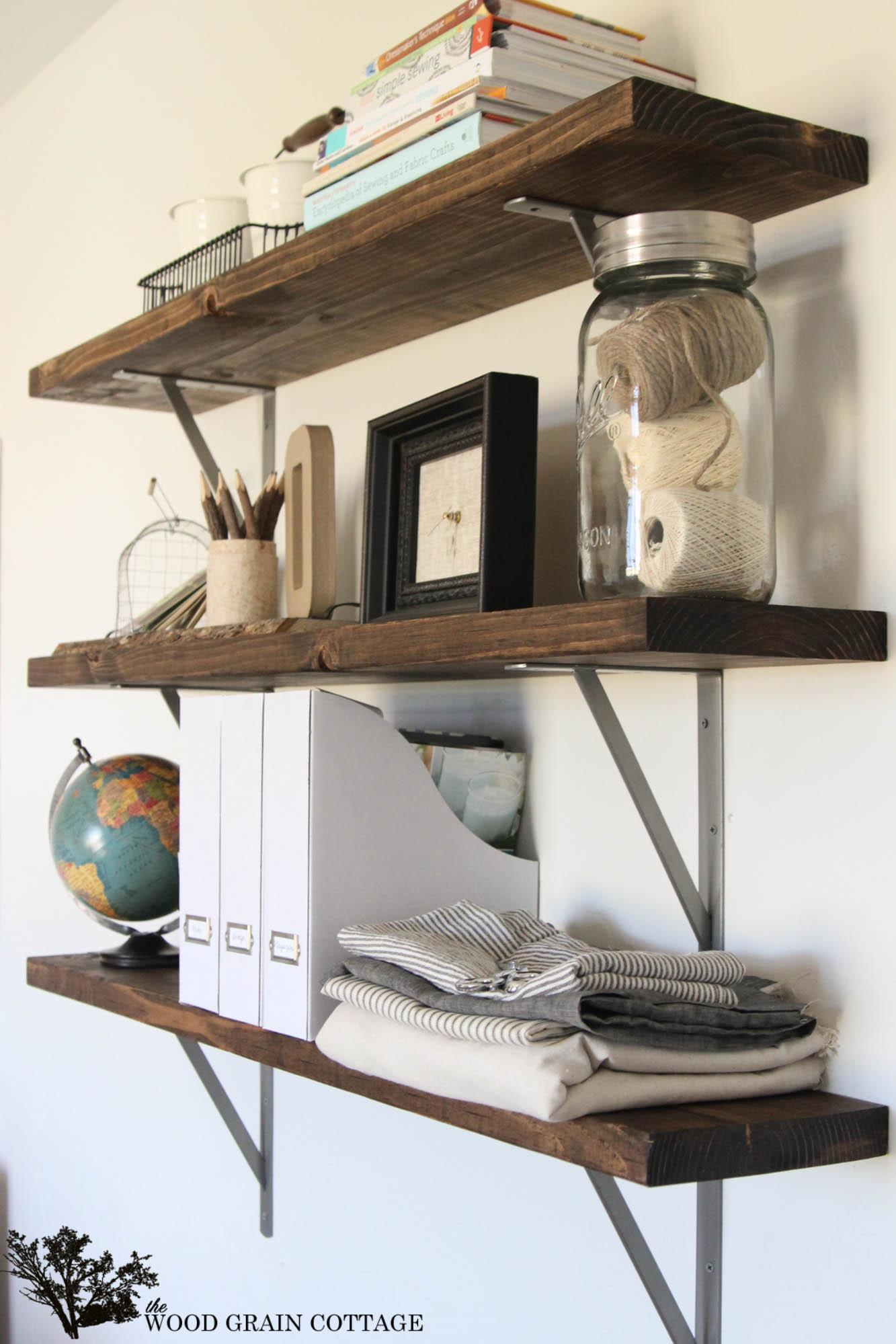 DIY Wood Shelf  Farmhouse Flair Diy Wood Storage Shelf How To
