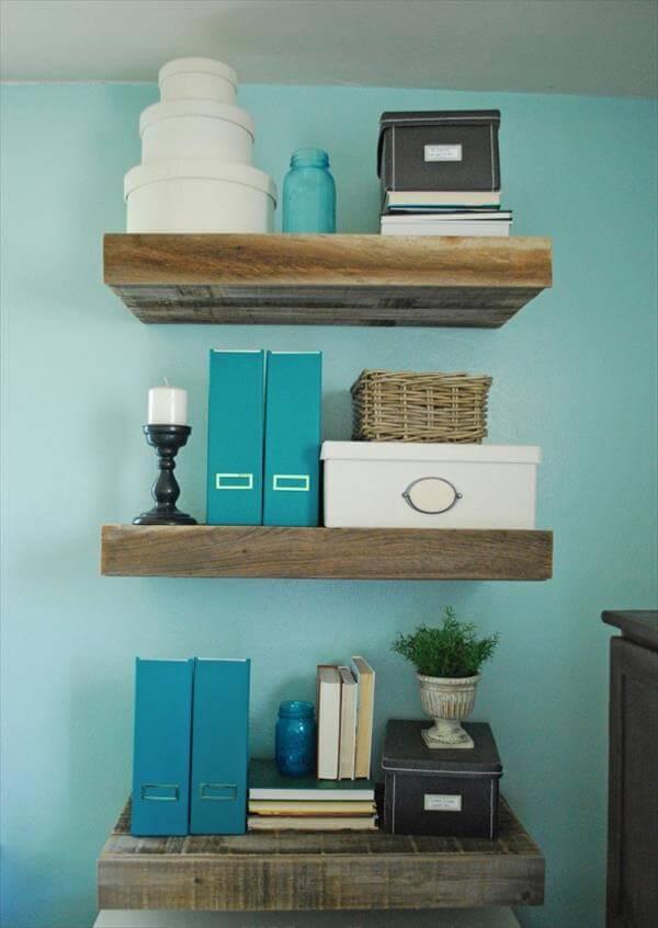 DIY Wood Shelf  10 Unique DIY Shelves for Home Storage