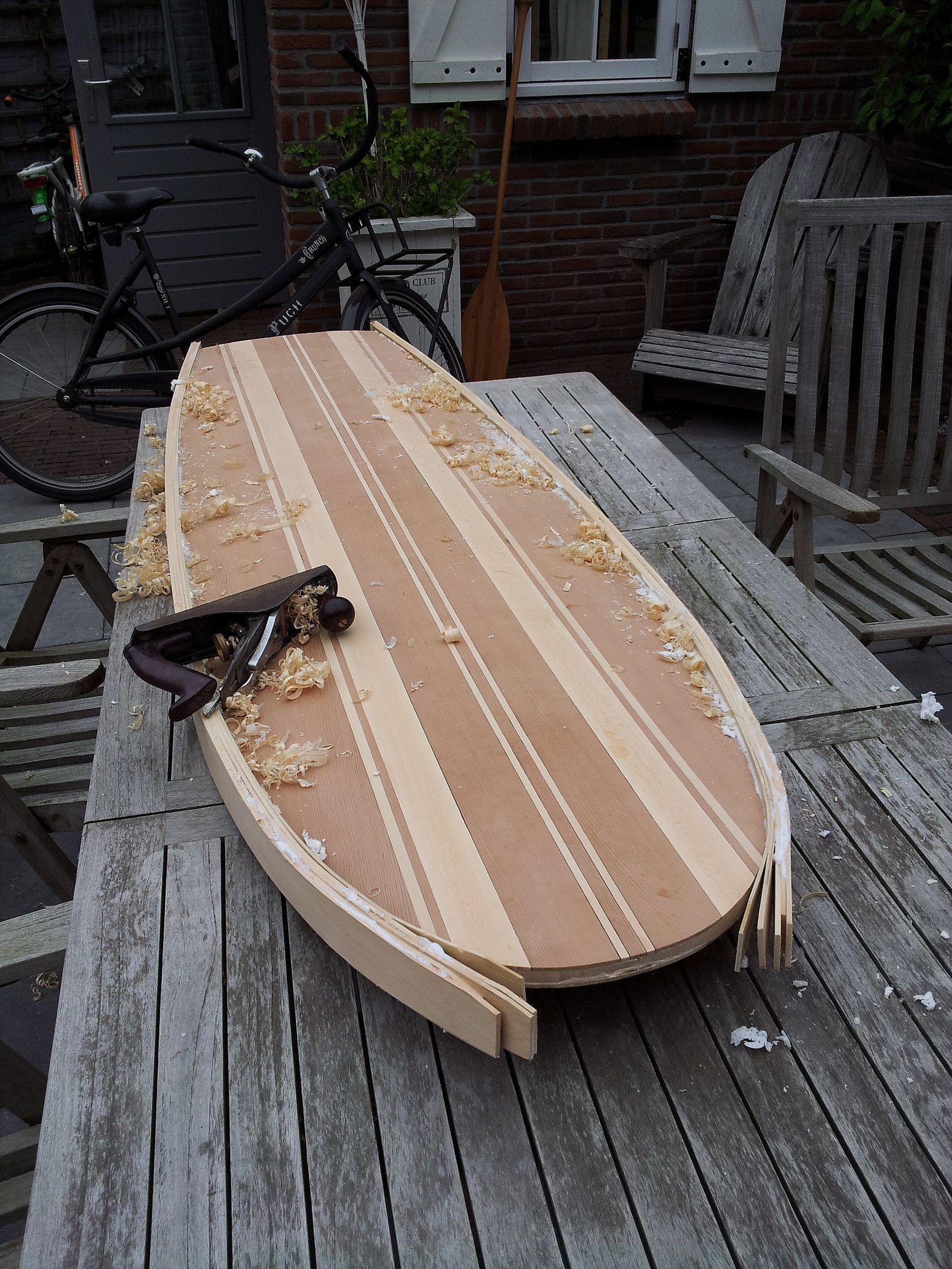 DIY Wood Surfboard  an overview of a wooden surfboard being built from start