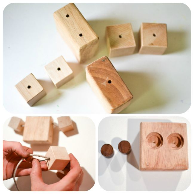 DIY Wood Toys  DIY Wooden Robot Buddy Easy Project for Kids