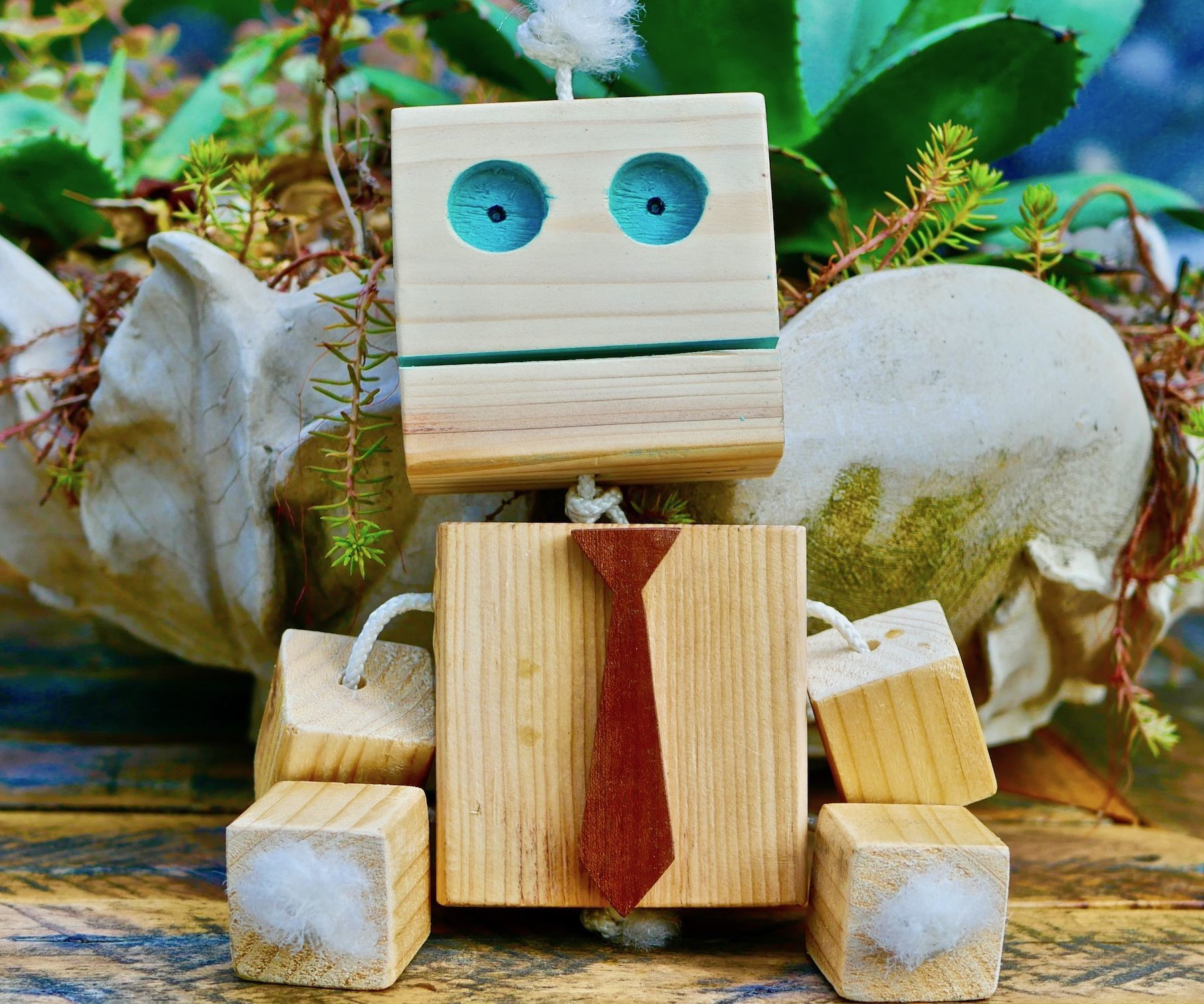 DIY Wood Toys  Wooden Robot DIY Homemade Toy